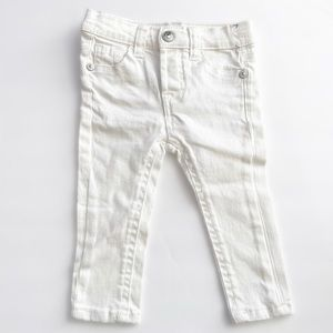 7 For All Mankind Baby Denim White Jeans Sz 12M